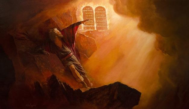 Image result for moses ten commandments art